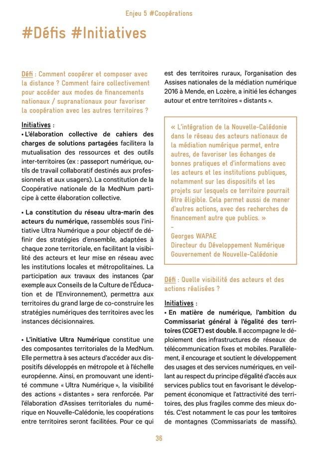 44 L'Agence du Numérique a pour ambition de préparer, avec ses partenaires publics et privés, l'ensemble de la société fra...