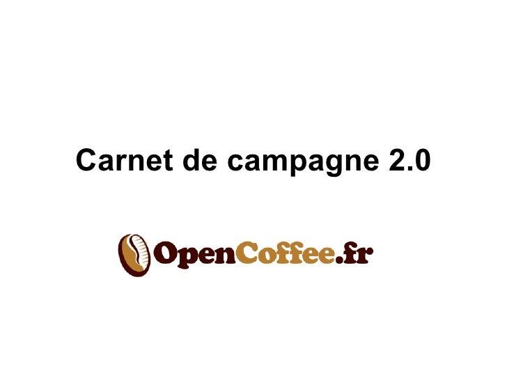 Carnet de campagne 2.0