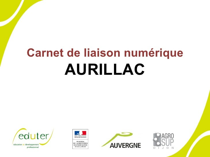 Carnet de liaison numérique AURILLAC