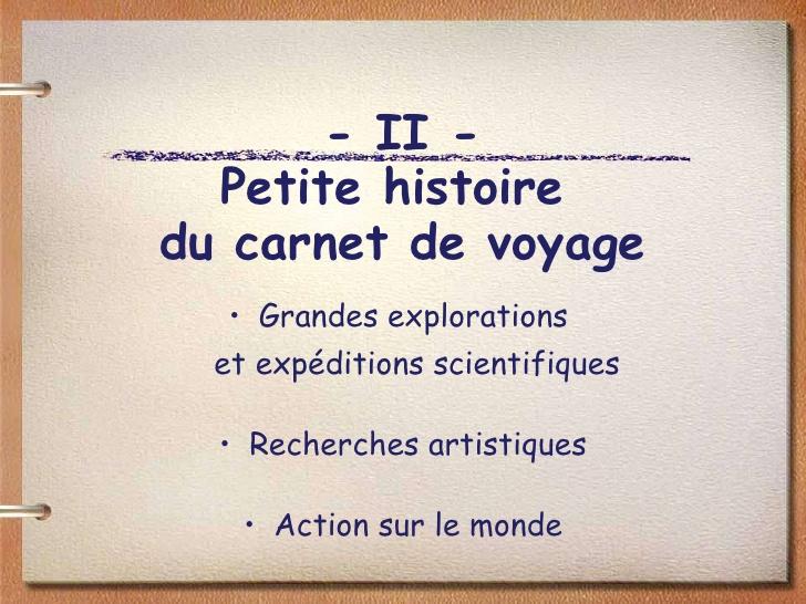Exceptionnel Carnet De Voyage RN04