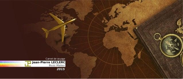 Carnet de voyageCarnet de voyage 20152015