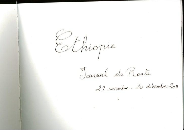 Carnet de voyage F. Spiekermeier   Ethiopie