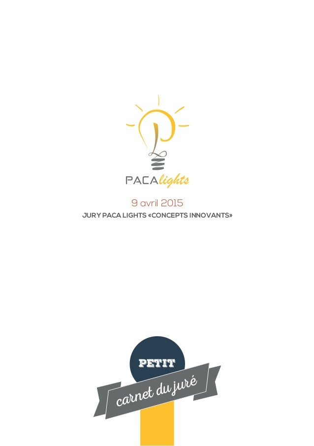 petit carnet du juré 9 avril 2015 JURY PACA LIGHTS «CONCEPTS INNOVANTS»