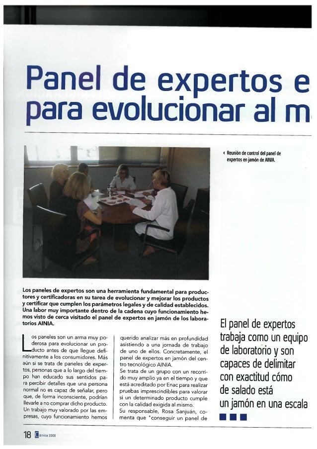 Panel de expertos en jamón, test de calidad para evolucionar al máximo un producto