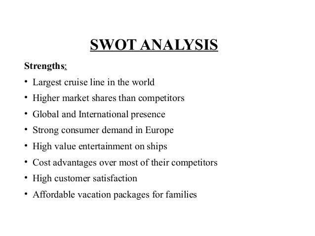 royal caribbean swot analysis Free essays on royal caribbean pestel analysis for students use our papers to help you with yours 1 - 30.