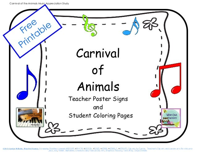carnival of the animals coloring pages coloring page. Black Bedroom Furniture Sets. Home Design Ideas