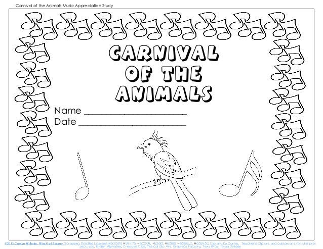 saint saens carnival of the animals page coloring pages. Black Bedroom Furniture Sets. Home Design Ideas