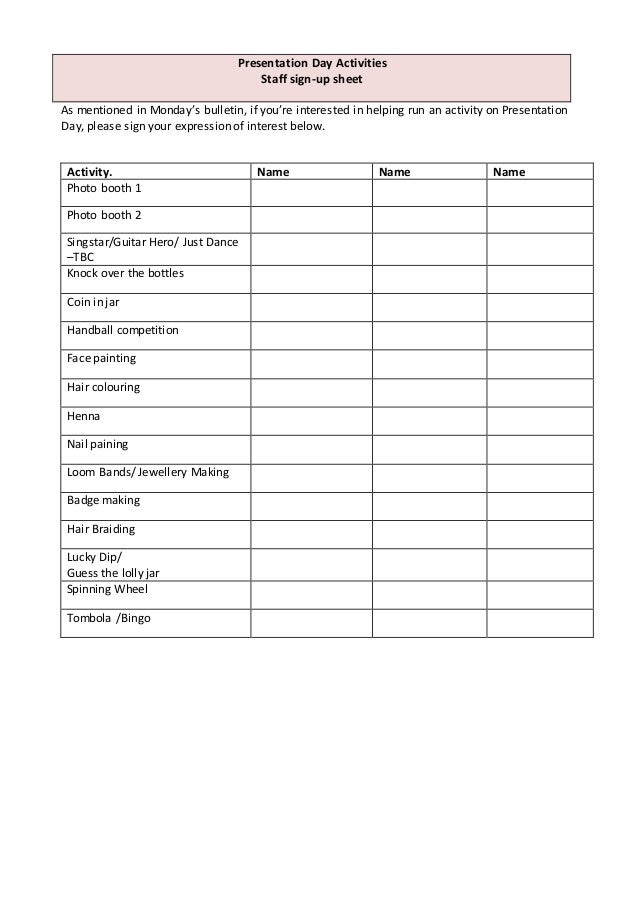 easy calendar template
