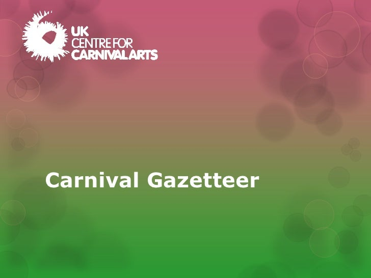 Carnival Gazetteer
