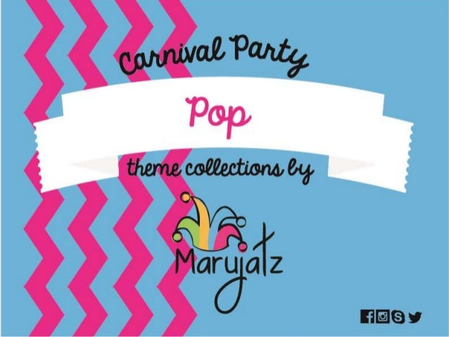Carnival Party Pop theme collection by Marujatz Coloful StripesTop Hat Pop Carnival Party theme collection by Marujatz Top...