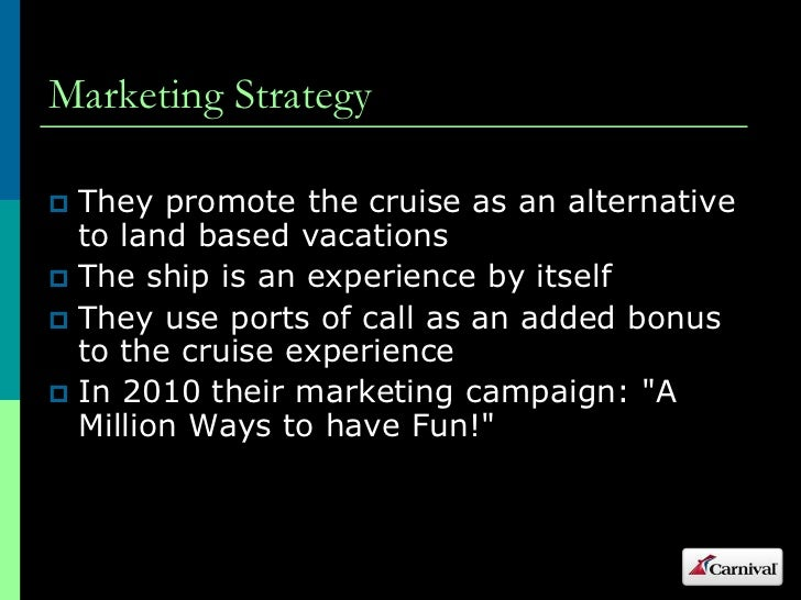 Carnival cruise lines marketing analysis