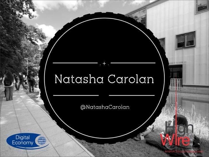 Natasha Carolan | HighWire Doctoral Training Centre | @natashacarolan