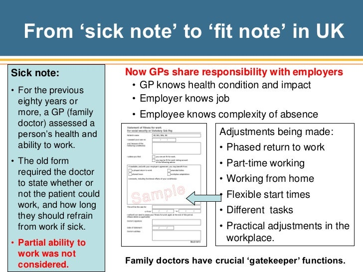 Fit Note Fit Note Black Occupational And Environmental Medical