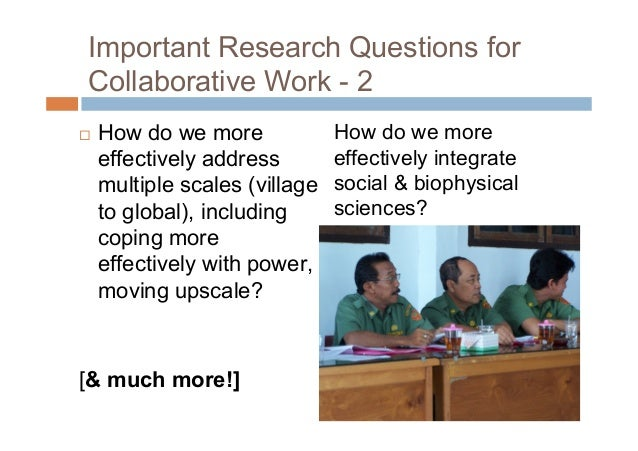 Some of my own RQs How do we involve women and marginalizedethnic groups more effectively? What indicators can help us a...