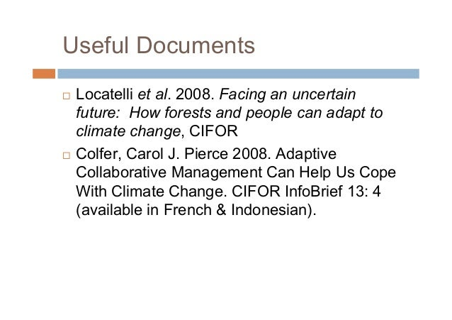 Putting forest communities at the center of responses to climate change: learning from past experience in forest management