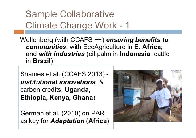 Sample CollaborativeClimate Change Work - 2 Djoudi & Brockhaus ongendered preferences andpractices in Mali (IFR 2011). A...