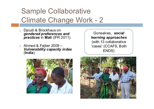 Collaborative Climate ChangeWork – close to home COFCCA – Cameroon, CAR, DRC – policy-oriented adaptation strategies to e...