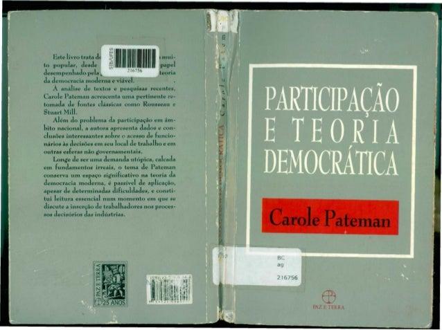 """Este livro trata dtto popular, desdeJ          L Jdesempenhado pela  1     """"""""     .M 6756                     xda democrac..."""