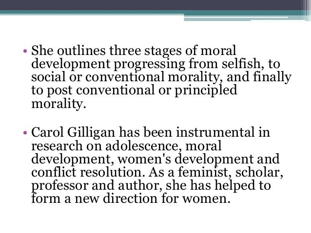 gilligan s theory essay In a different voice: psychological theory and women's development is a book on gender studies by american professor carol gilligan, published in 1982, which harvard university press calls the little book that started a revolution.