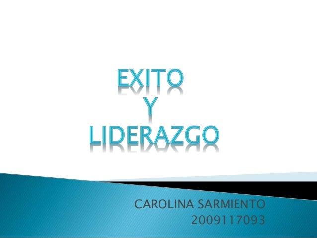 CAROLINA SARMIENTO 2009117093
