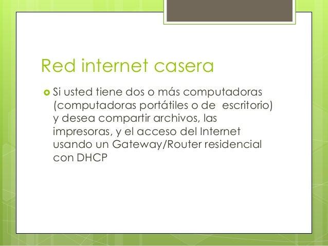 Red internet casera Siusted tiene dos o más computadoras  (computadoras portátiles o de escritorio)  y desea compartir ar...