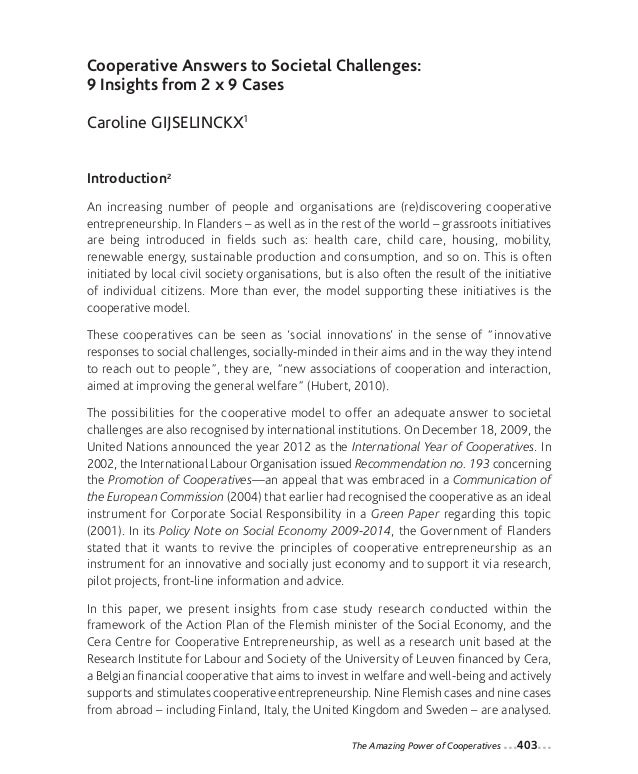 27-Gijselinckx_Mise en page 1 12-09-05 10:46 Page403                 Cooperative Answers to Societal Challenges:          ...
