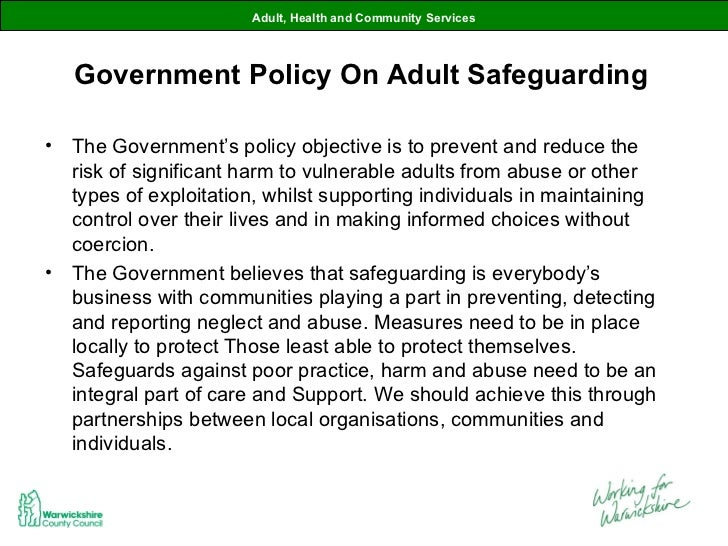 safe guarding adults essay