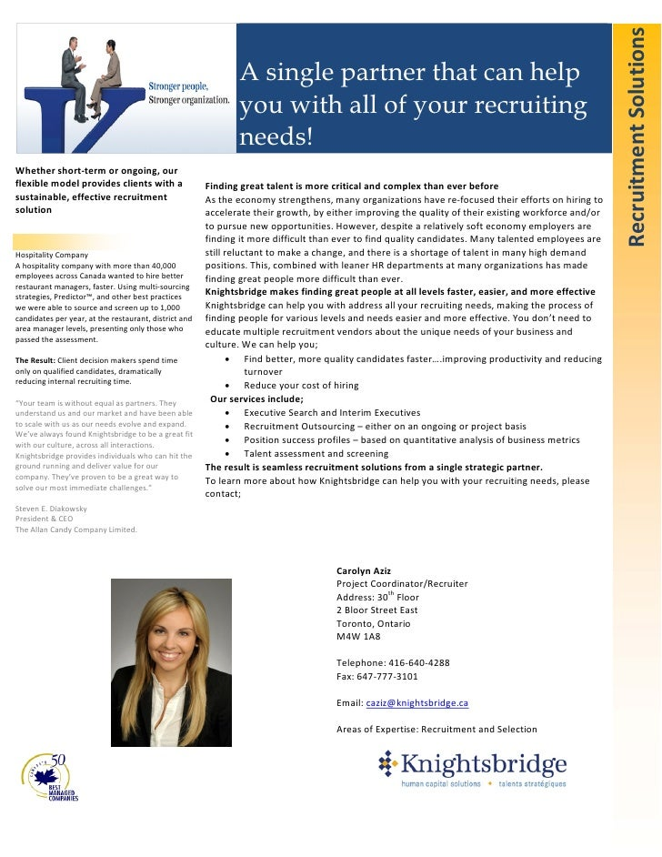 Recruitment Solutions                                                                  A single partner that can help     ...