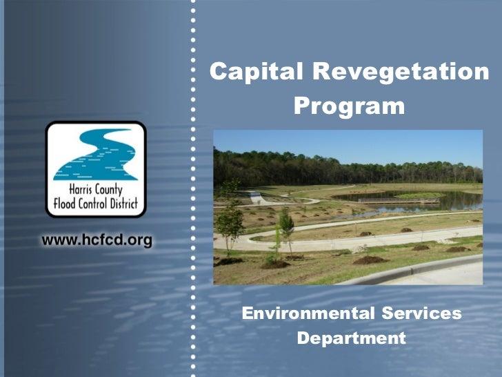 Environmental Services Department Capital Revegetation Program