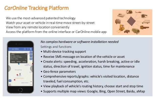 Car online wehicle& asset tracking platform