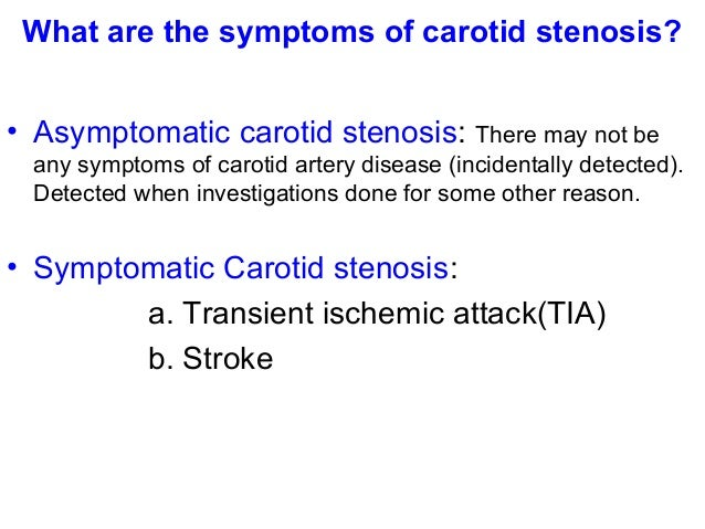 thesis on carotid artery disease Strokes resulting from large artery atherothrombotic disease (such as carotid artery stenosis) in previously asymptomatic patients (the focus of this recommendation) account for a relatively small proportion of all strokes.