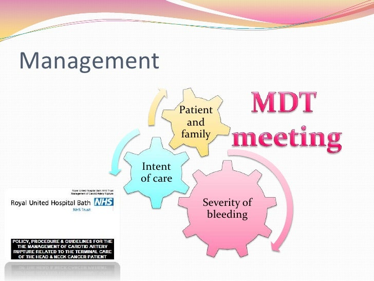 Management                  Patient                   and                  family        Intent        of care            ...