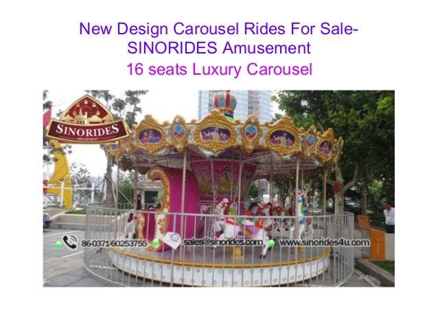 New Design Carousel Rides For Sale-  SINORIDES Amusement  16 seats Luxury Carousel