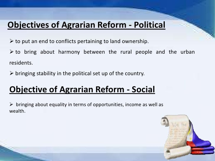 state of the philippine agrarian reform Land bank was established on august 8, 1963 as part of the agricultural land reform code as part of a program of land reform in the philippines it was to help with the purchase of agricultural estates for division and resale to small landholders and the purchase of land by the agricultural lessee.