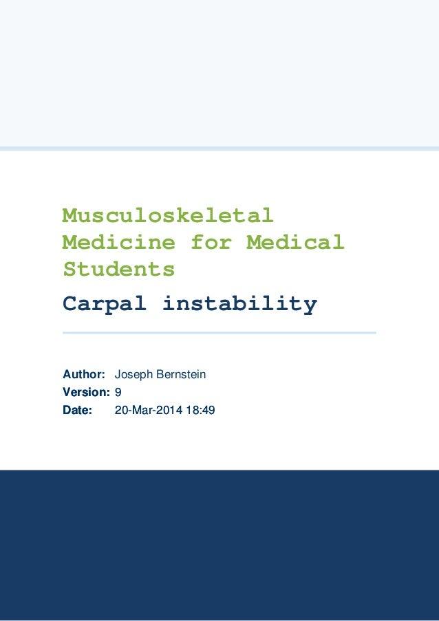 20-Mar-2014 18:4920-Mar-2014 18:49Date:Date: 99Version:Version: Joseph BernsteinAuthor: Musculoskeletal Medicine for Medic...