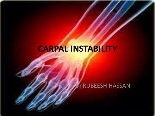 CARPAL INSTABILITY Dr.RUBEESH HASSAN