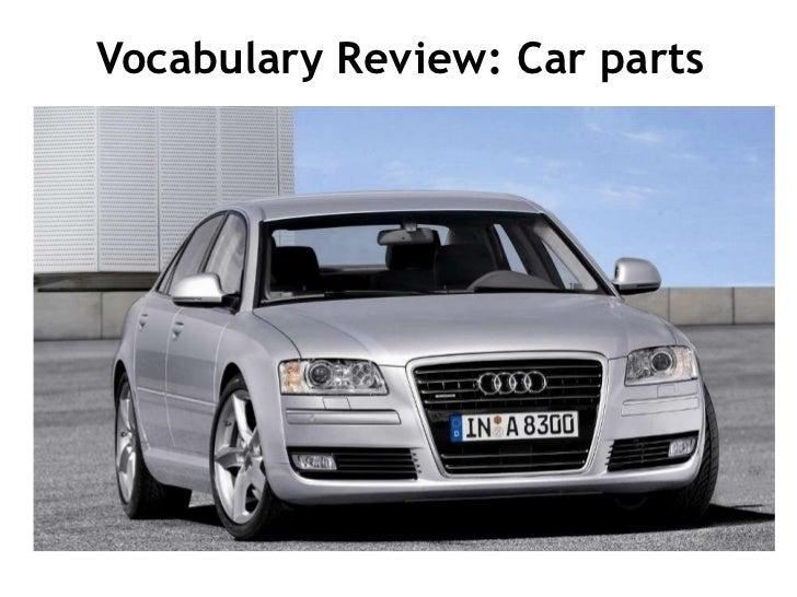 Vocabulary Review: Car parts