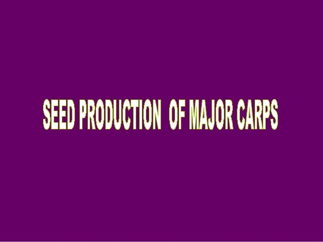 INDIAN MAJOR CARPS80% of freshwater farming constituted by carps and other cyprinids globally.Indian major carps- CATLA,...