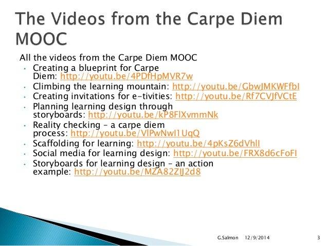 Carpe diem workshop on storyboarding, online educa,  berlin dec5  2014 Slide 3