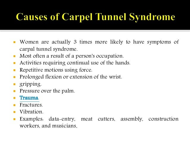 carpal tunnel syndrome: causes, symptoms and treatment., Human Body