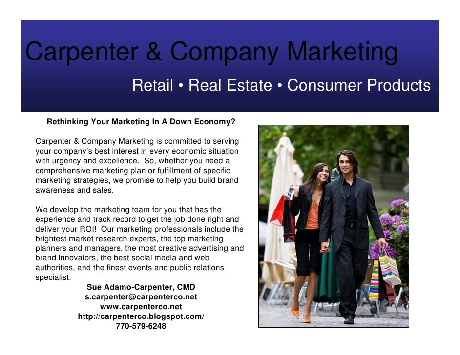 Carpenter & Company Marketing                           Retail • Real Estate • Consumer Products     Rethinking Your Marke...