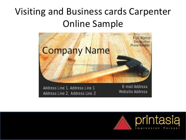 carpenter visiting card design printasia