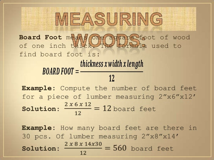 The Explanations Are For Lumber Material Because Of Need To Convert Values Shown If You Feel They Re Incorrect Any Other Is