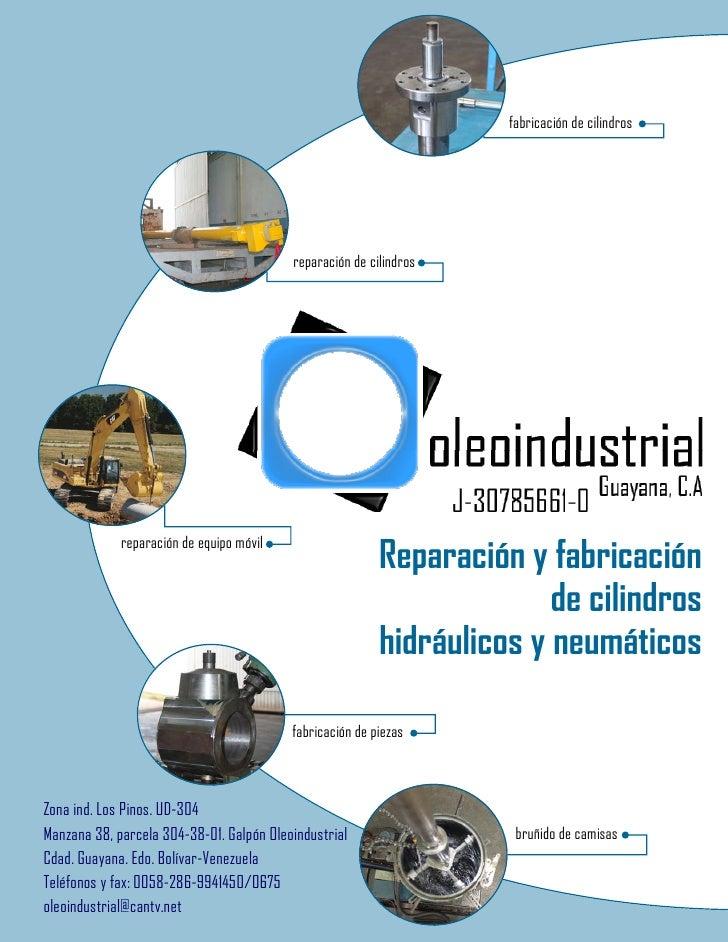 fabricación de cilindros                                          reparación de cilindros                                 ...