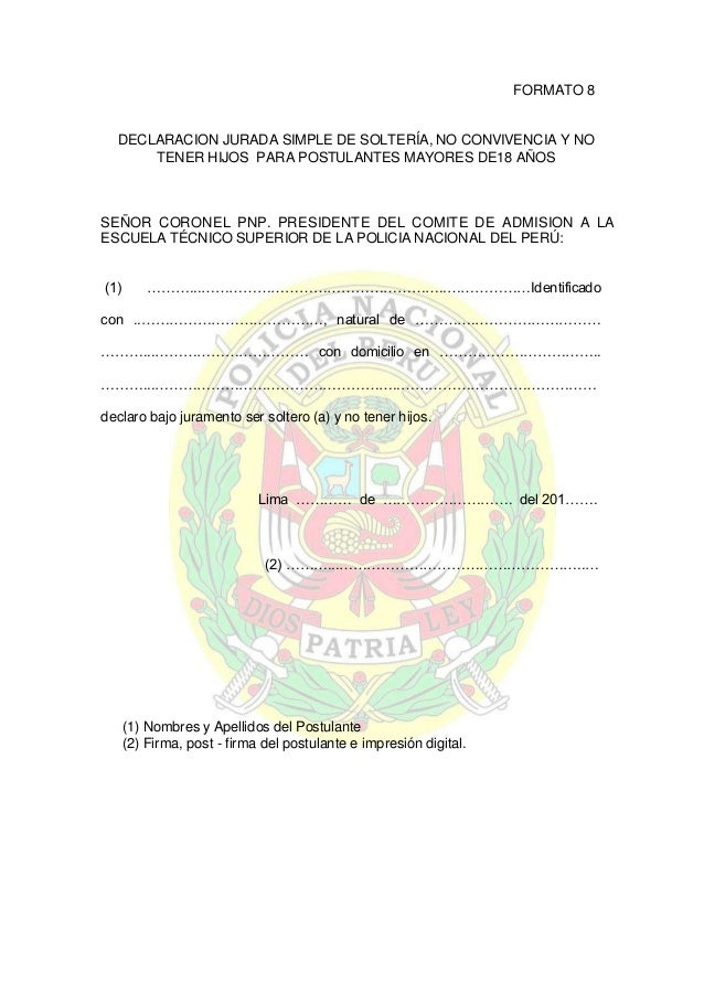 Encantador Declaración Jurada Modelo Uk Festooning - Colección De ...
