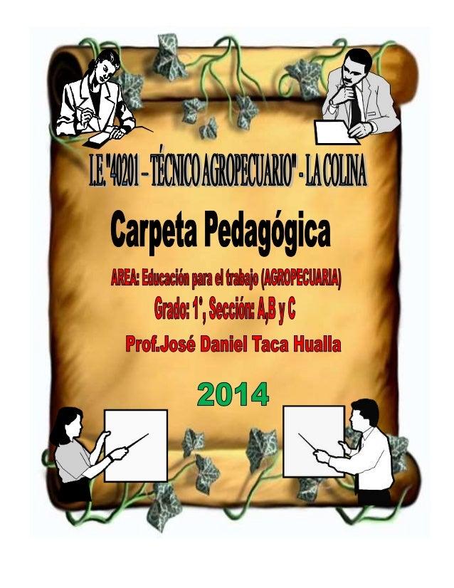 I. DATOS GENERALES DE LA INSTITUCIÓN EDUCATIVA 1.1. Institución Educativa : 40201 – Técnico Agropecuario 1.2. Dirección : ...