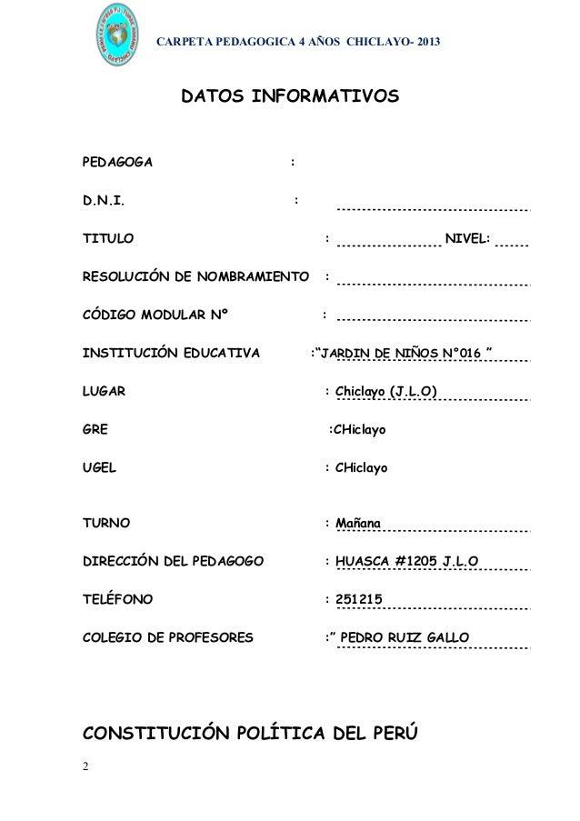 Carpeta pedagogica inicial 3, 4 y 5 años Slide 2