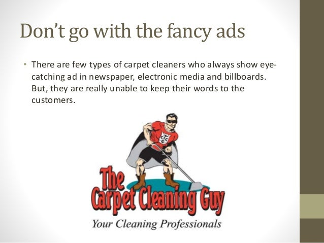 best carpet cleaning ads