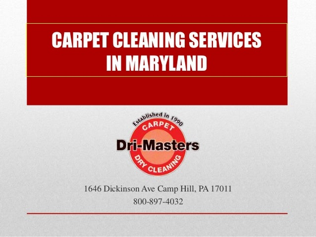 Carpet Cleaning Services In Maryland