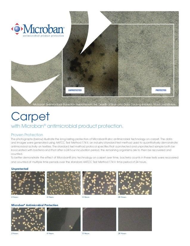 Microban Antimicrobial Carpet Technology Sheet